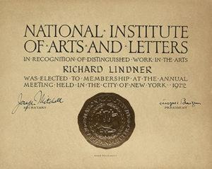 richard lindner certificate