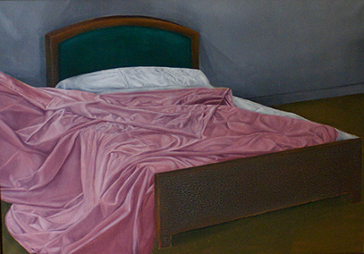 denise lindner bed with pink sheets