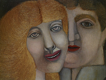 Untitled (Head of a Man and a Woman), 1949