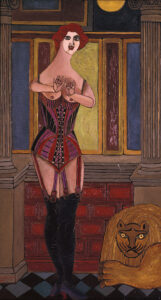 Lady and the lion (Woman in Corset), 1950