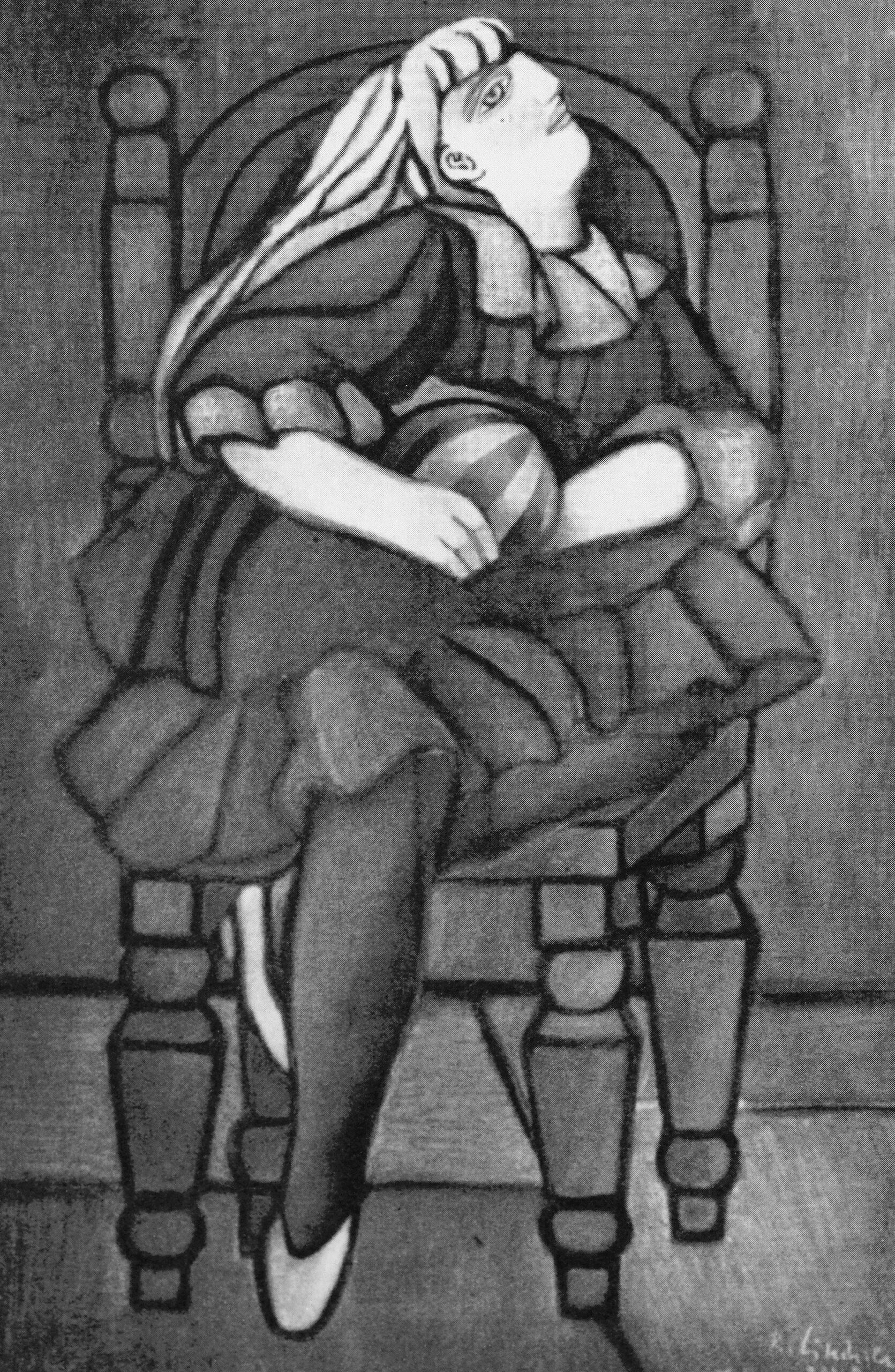 Girl Sitting, 1950 grand format