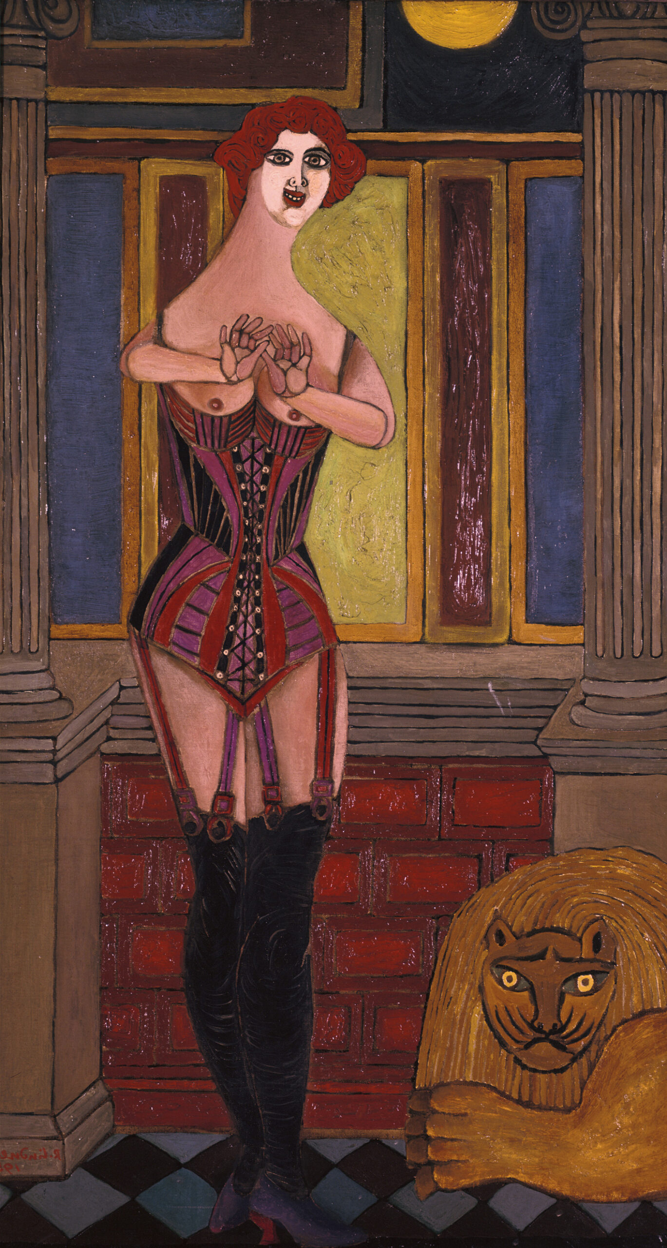 Lady and the lion (Woman in Corset), 1950 grand format