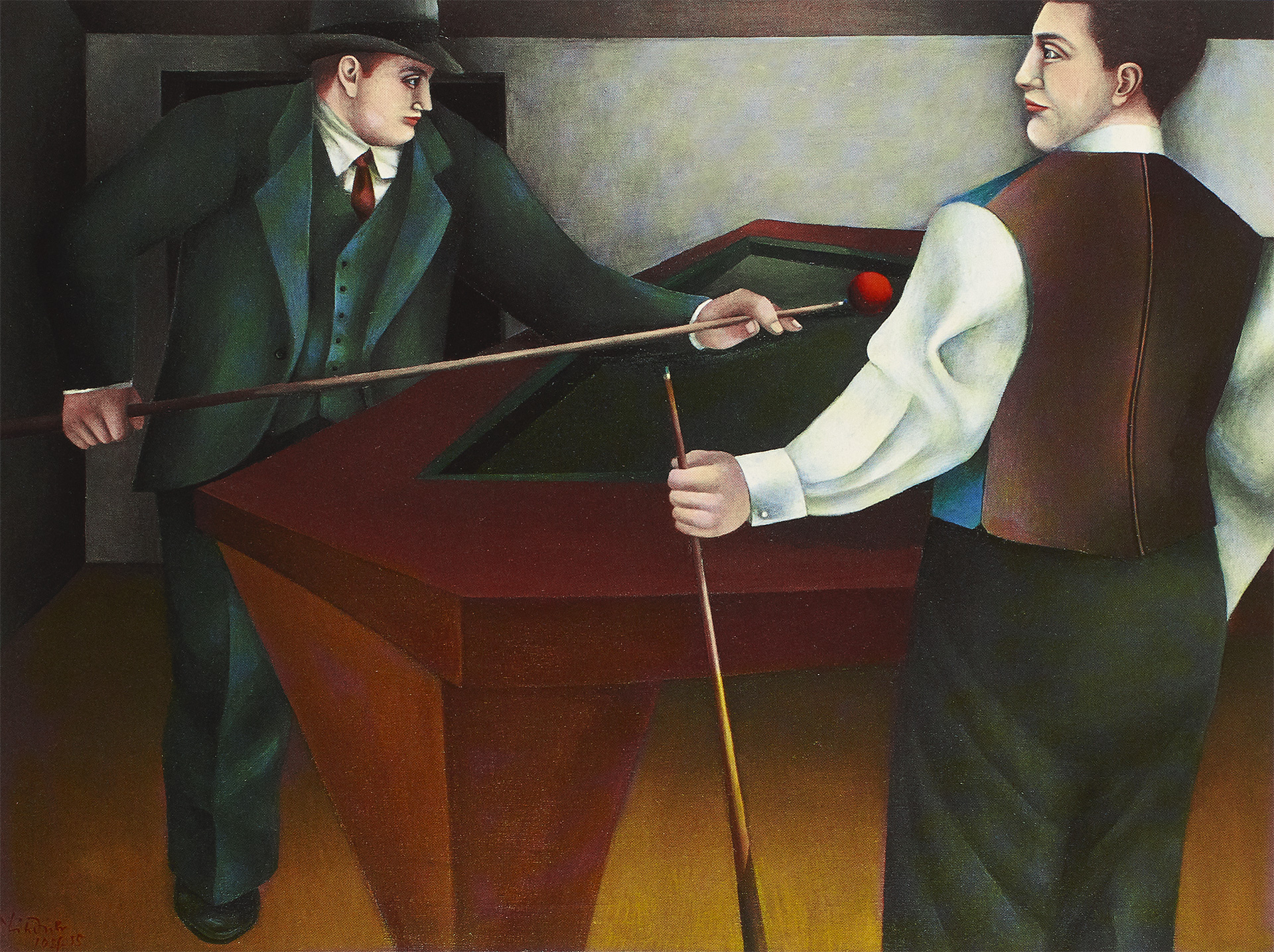 The Billiard (Billiards, The Billiard Players), 1954-55 grand format