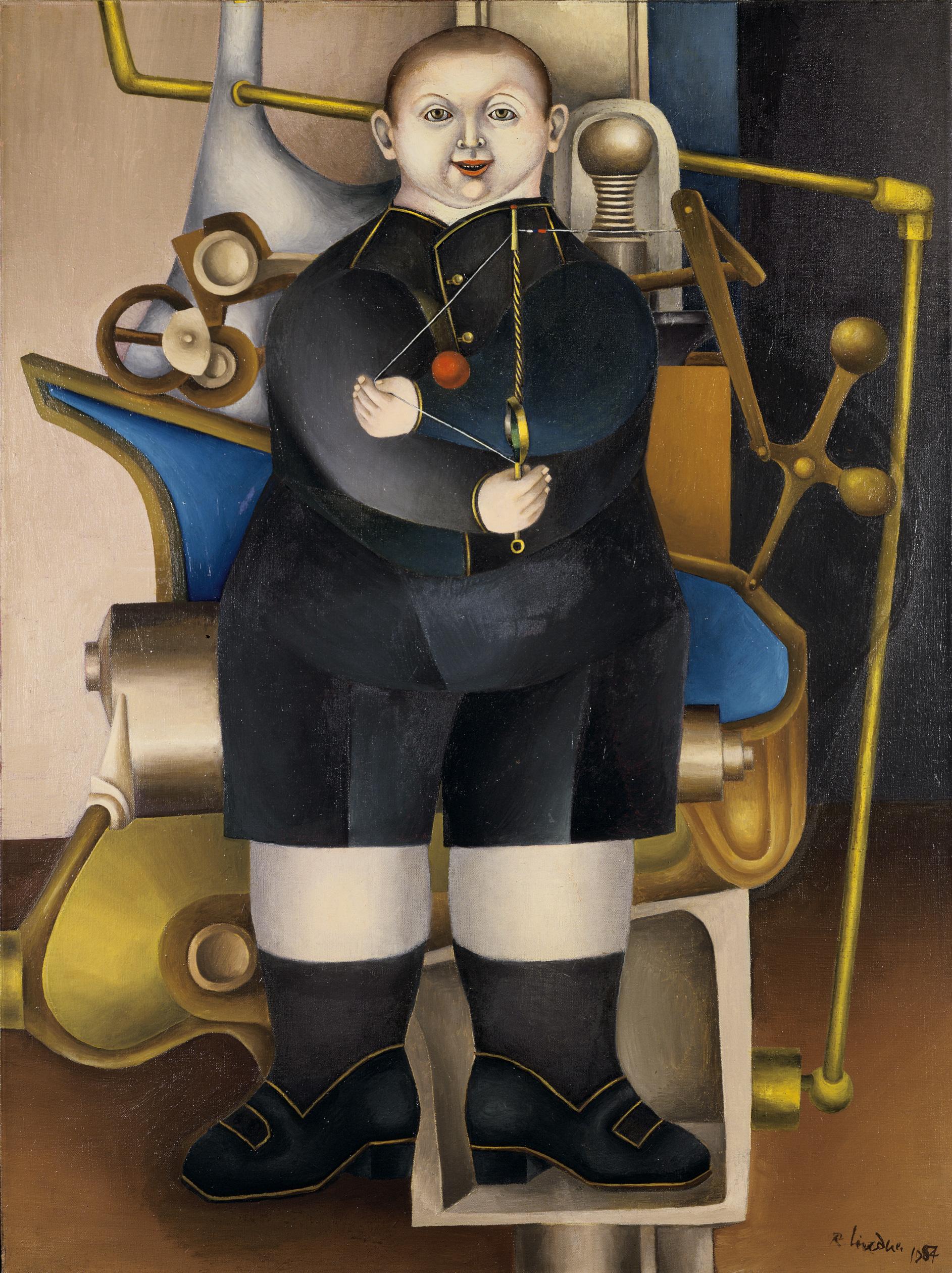 Boy with Machine, 1954 grand format