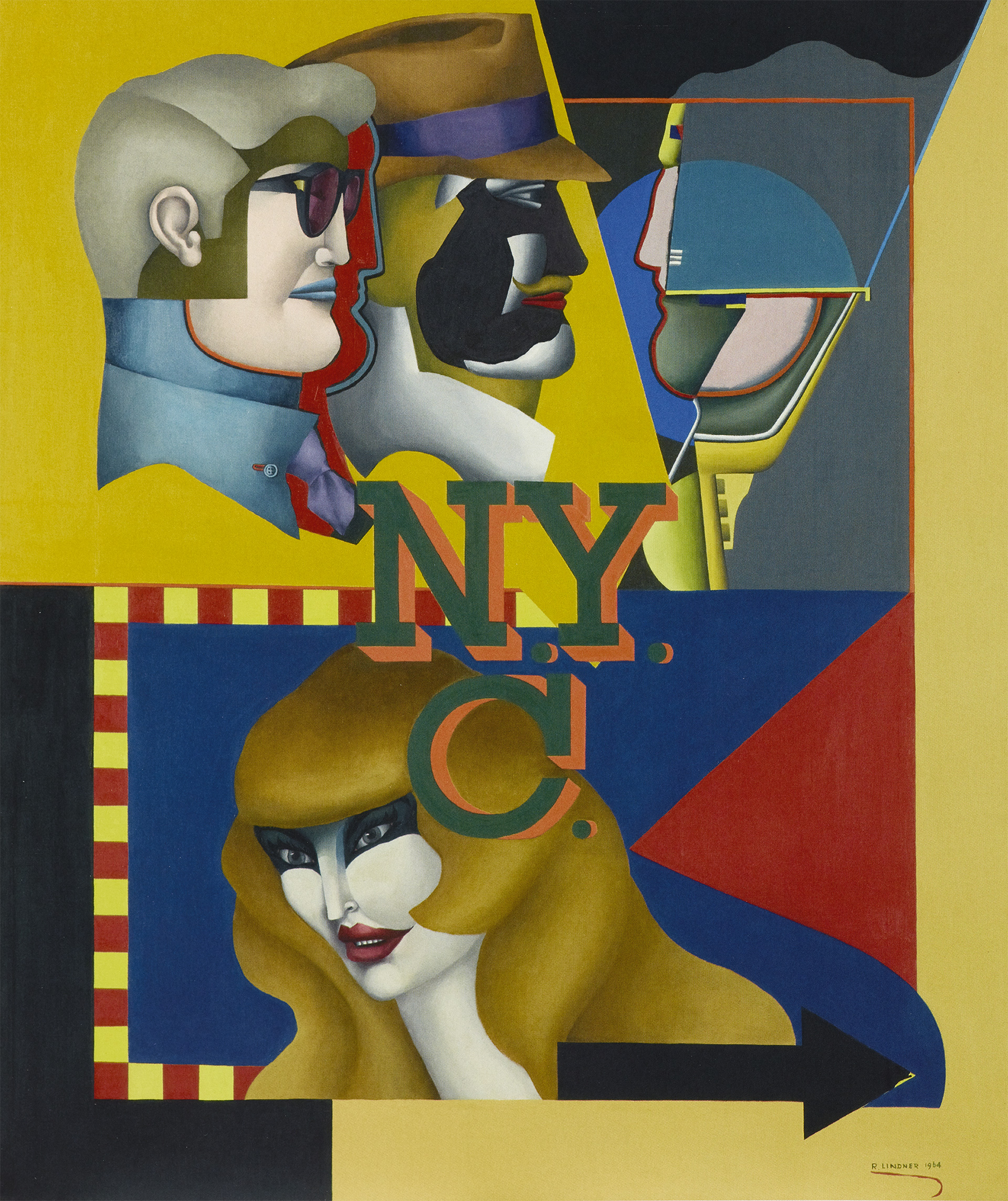 New York City III, 1964 grand format
