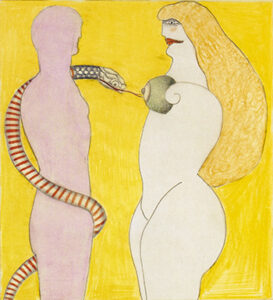 And Eve, 1970 Watercolors
