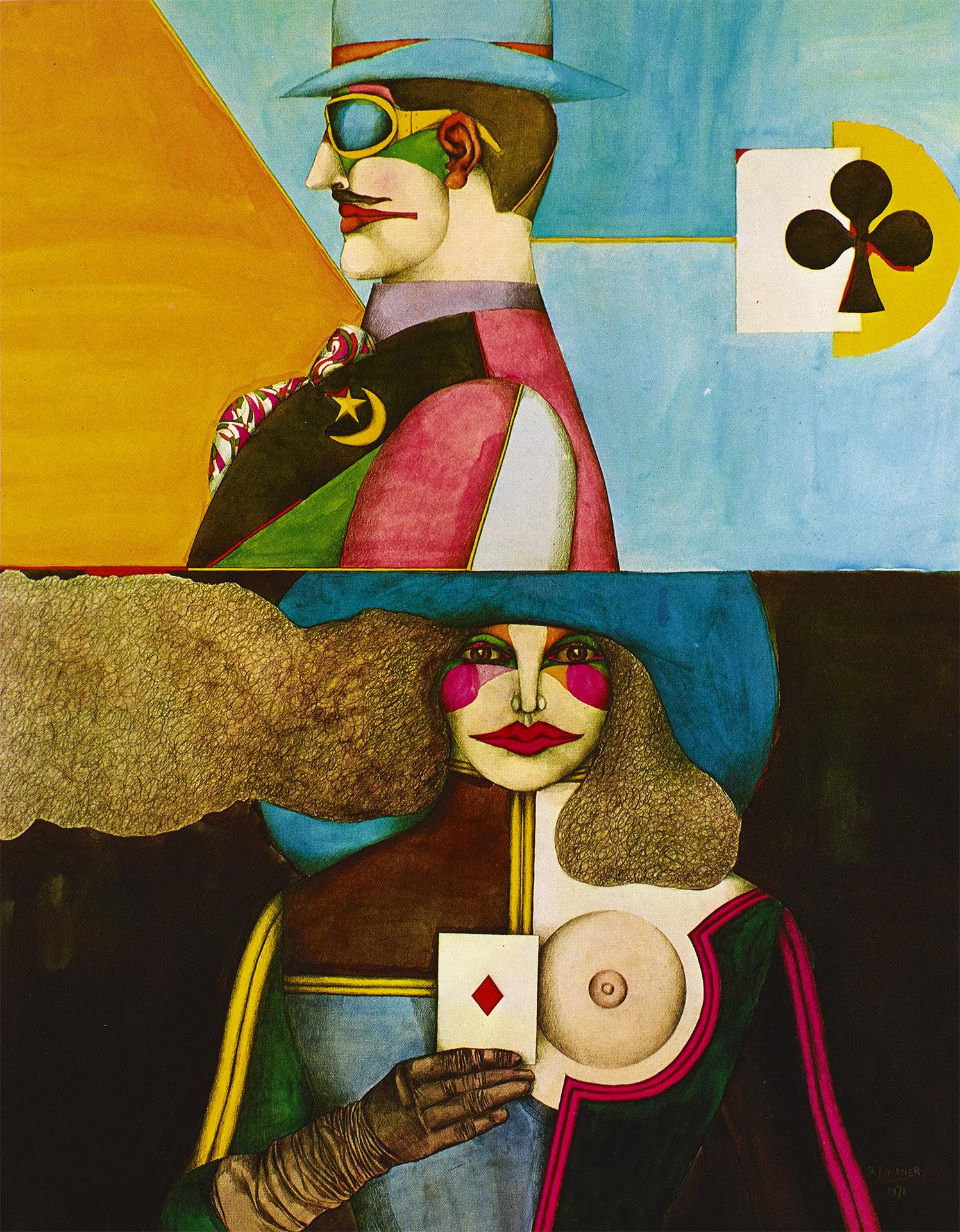 Partners, 1971 watercolors grand format