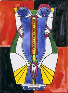 Corsage, 1971 watercolors