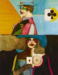 Partners, 1971 watercolors