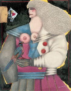 Girl with Bird, 1973