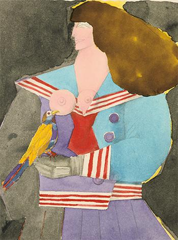 Girl with Bird, 1973 02