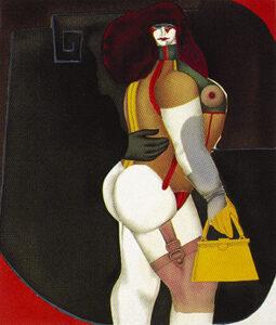 Woman with Yellow Handbag, 1975