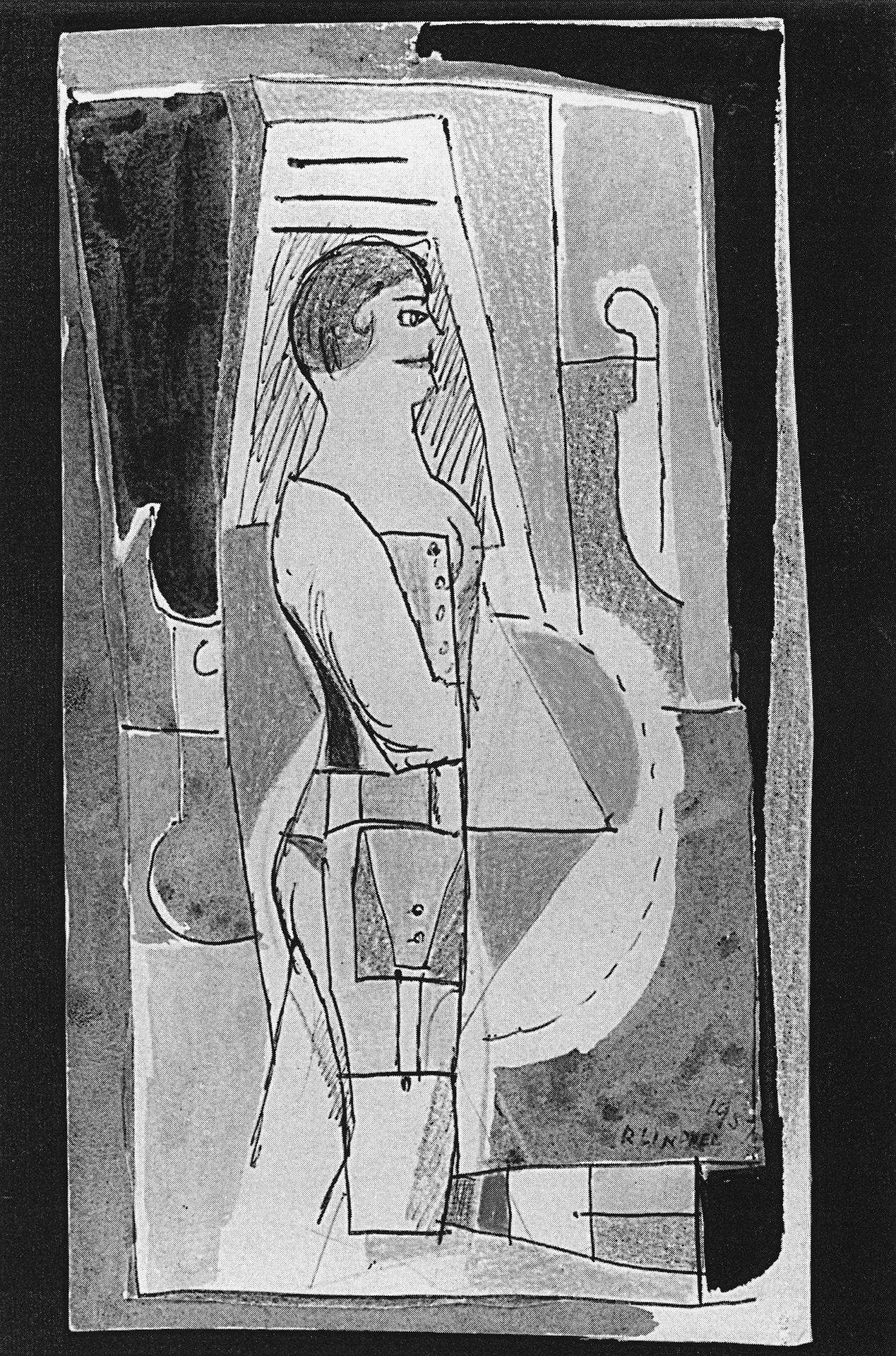 Woman in Corset, 1957