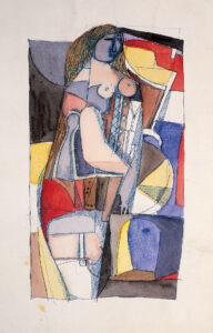 Construction (Woman in corset), 1958