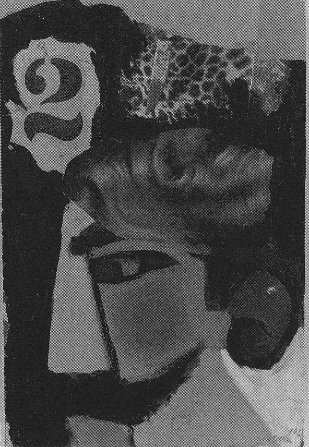 Collage No. 2 with Wig, 1962