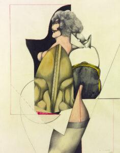 Woman with handbag, 1964
