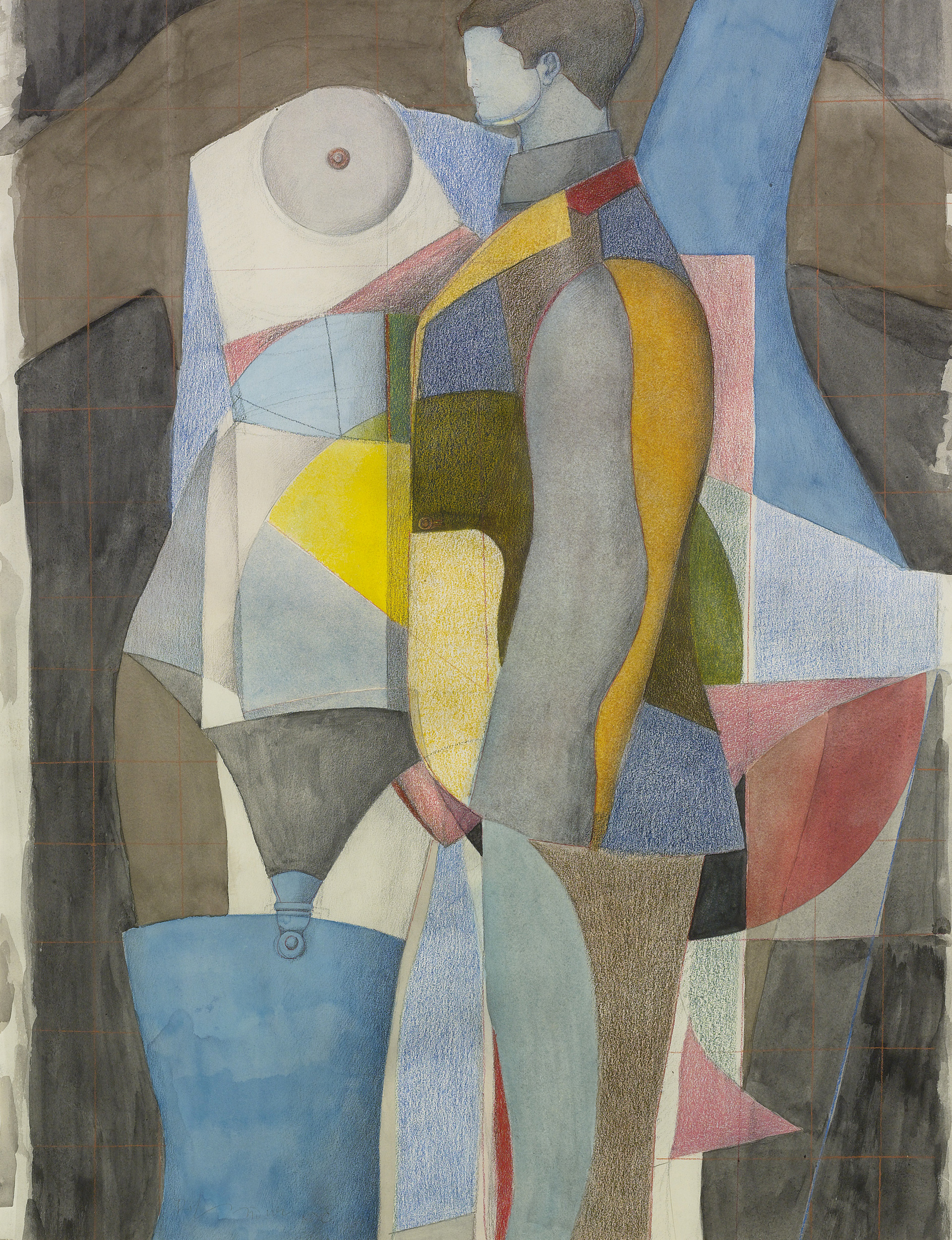 Untitled (Figure with garterbelt), 1965