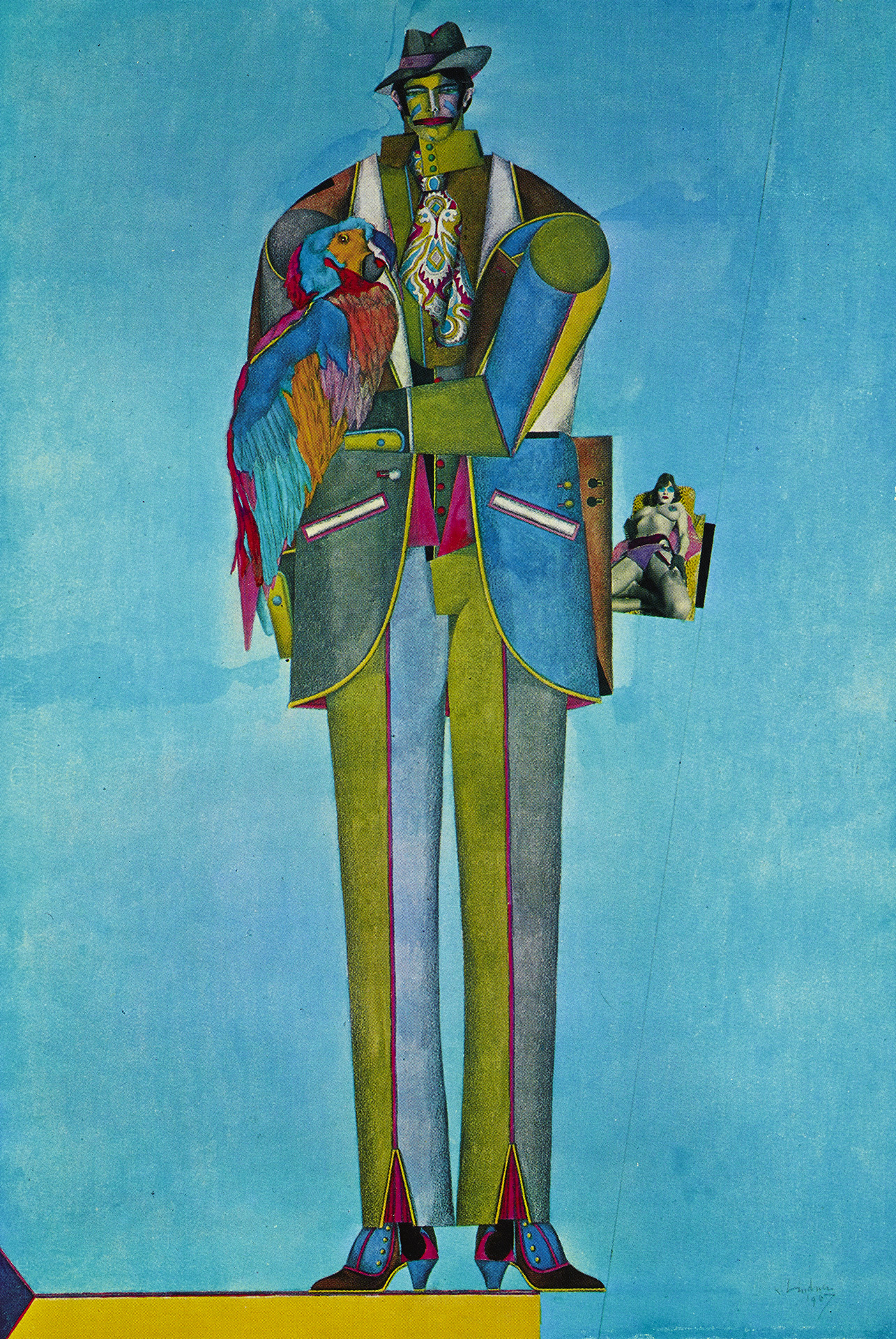 Man with Parrot, 1967