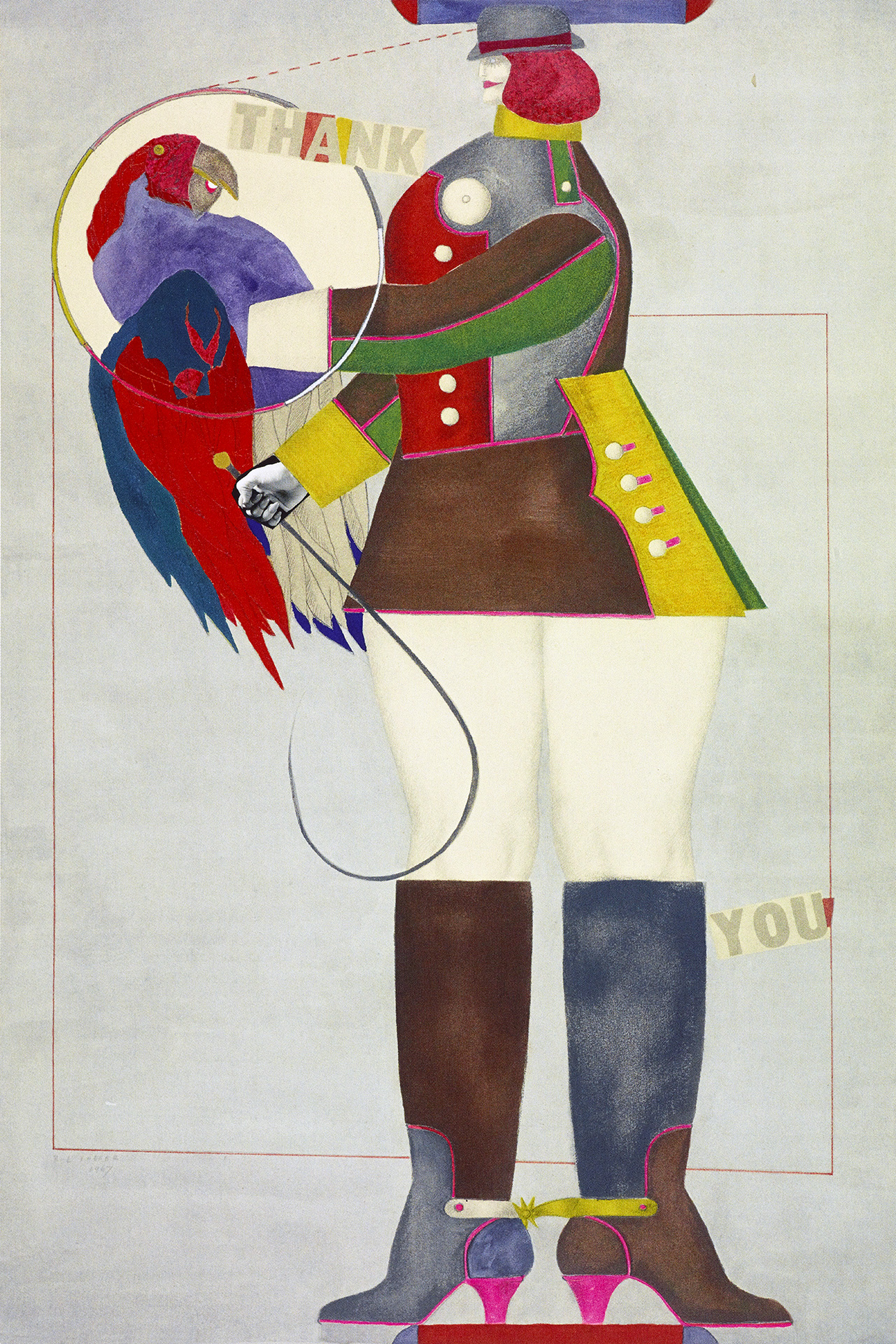 Thank you (Woman with Parrot), 1967