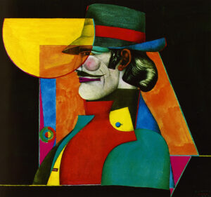The Gift (Profile of Man with Hat and Red Band), 1969