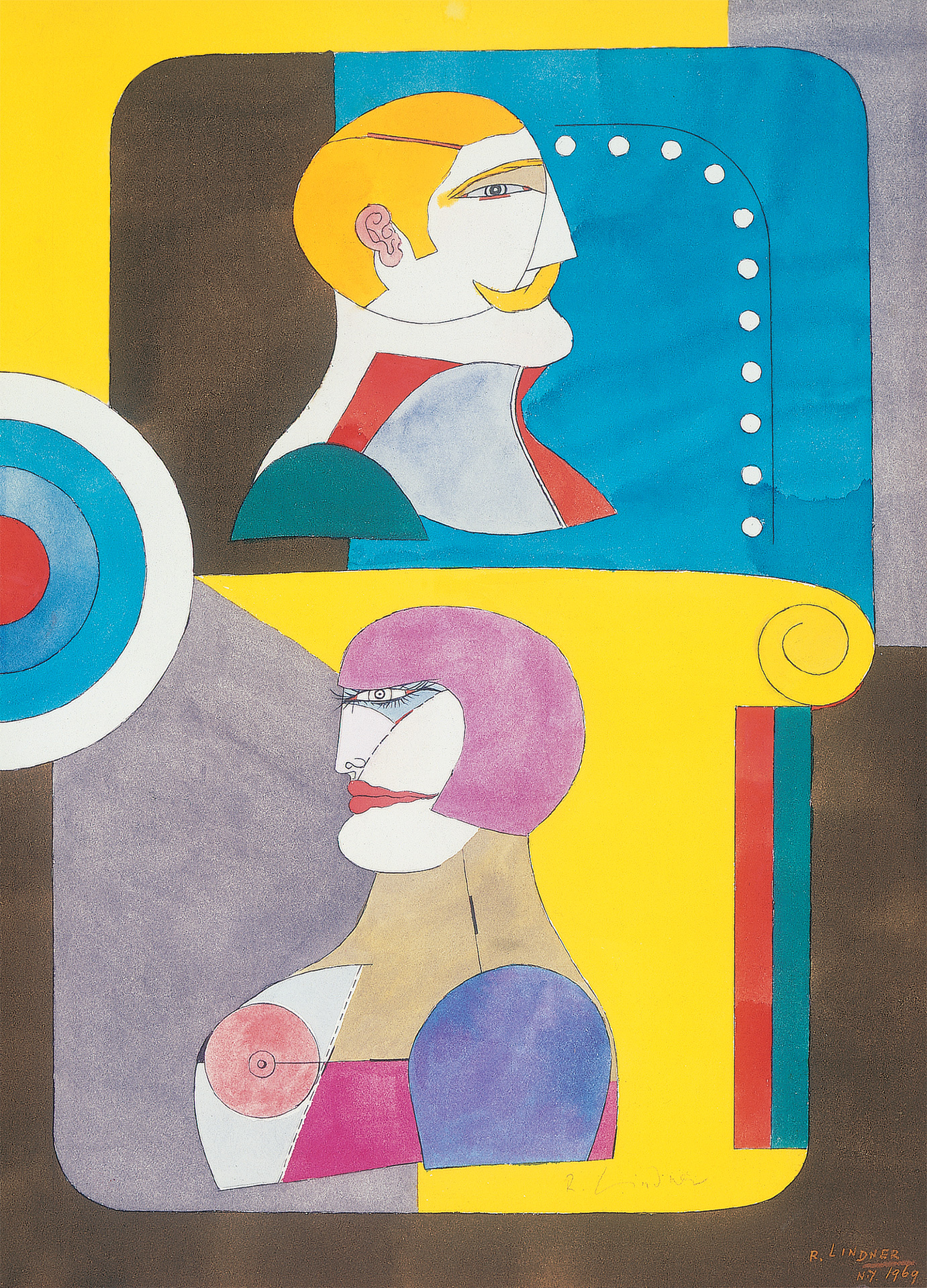 Two Profiles, 1969