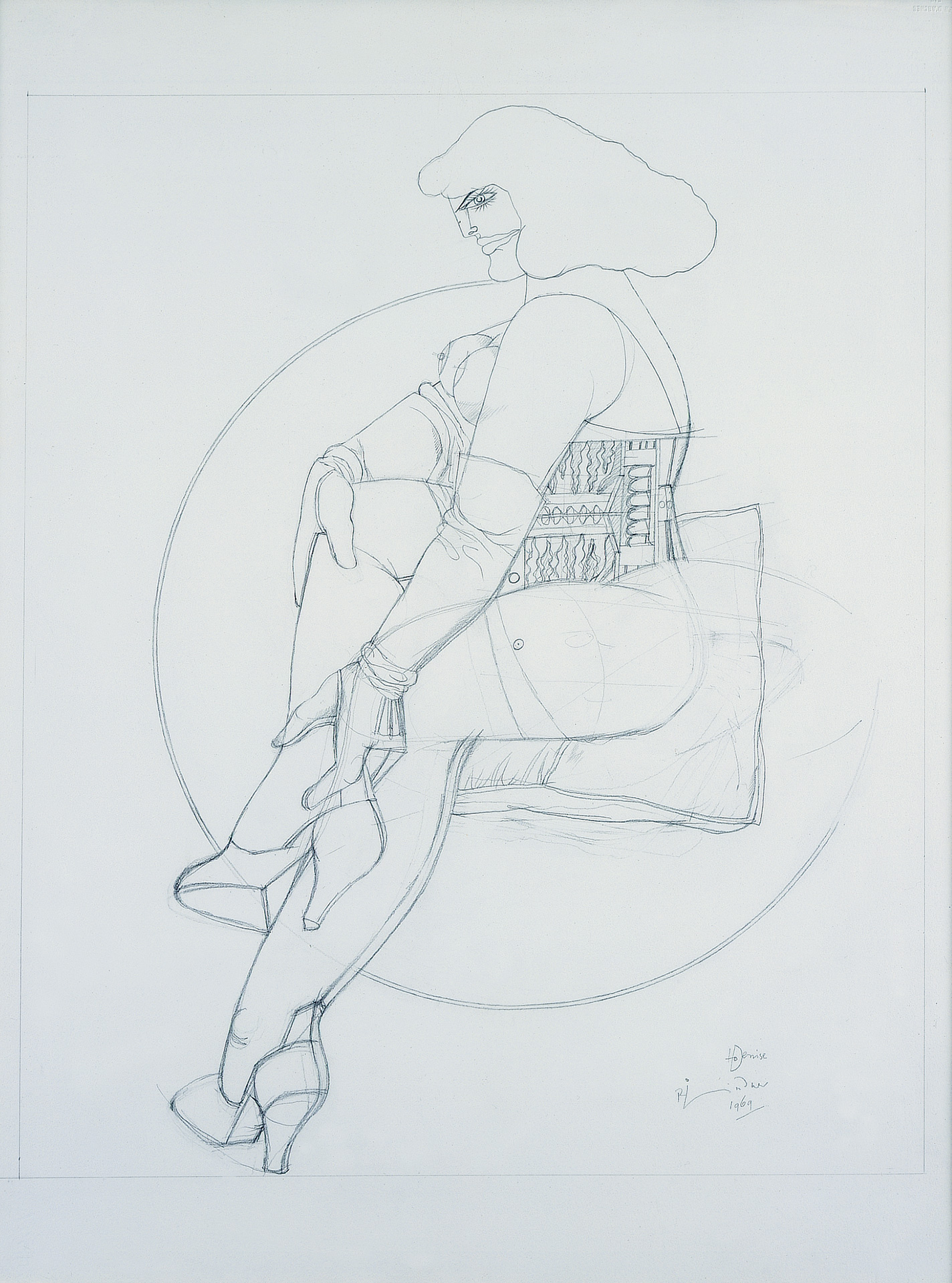 Untitled (Pillow and almost a Circle), 1969