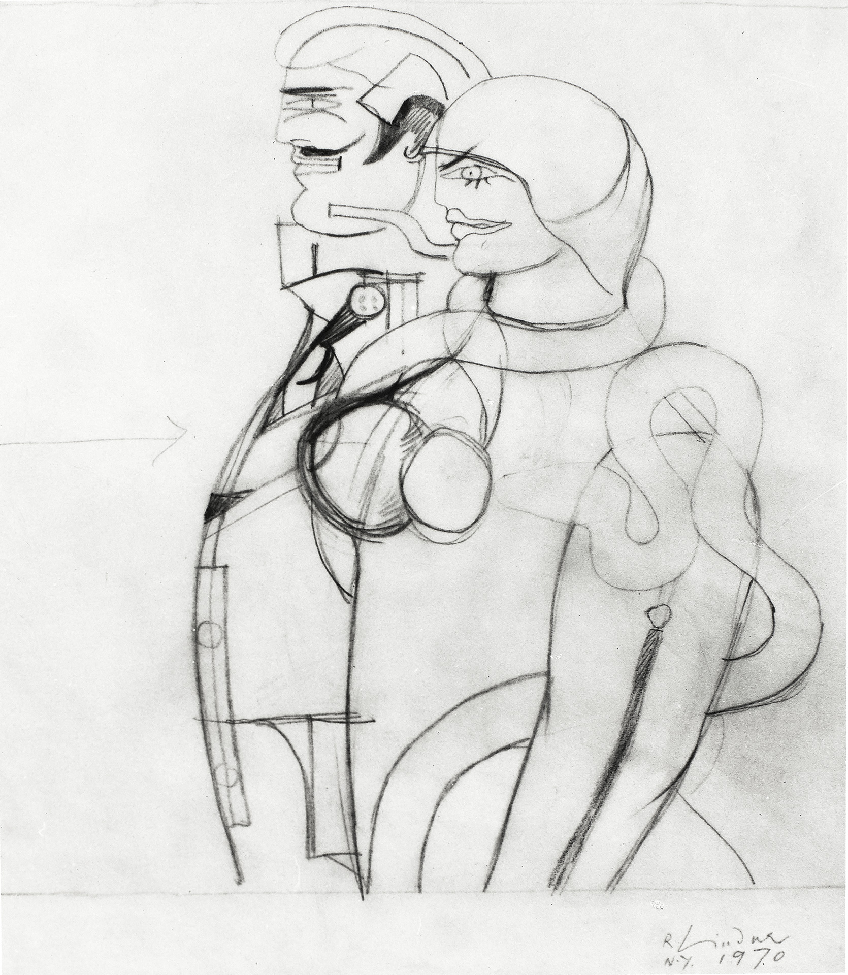 Study for And Eve, 1970