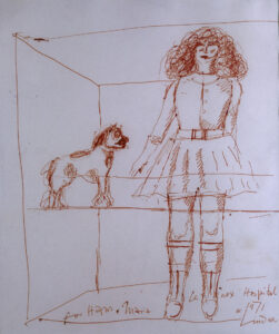 Woman with dog, 1971