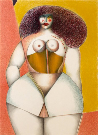 Woman on Yellow Background, 1972