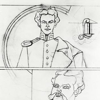 Study for Double Portrait Ludwig II, 1974